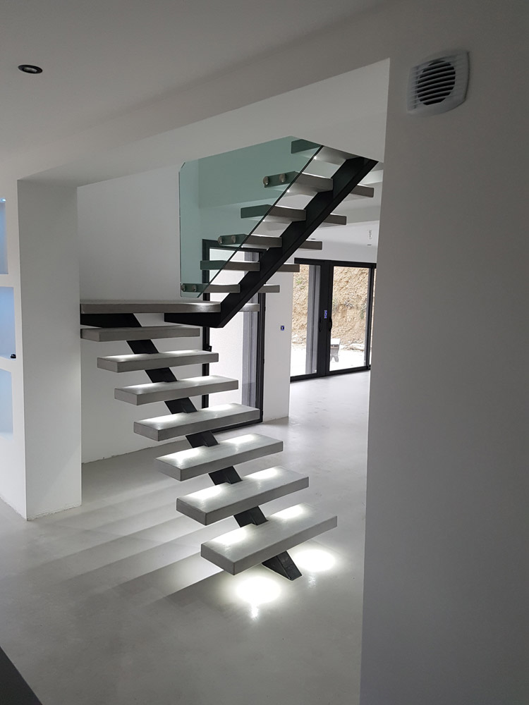 Affordable Affordable Marches Clairage Led Metalinov Escalier Mtallique  With Eclairage Led Escalier With Eclairage Escalier Interieur Sans Fil