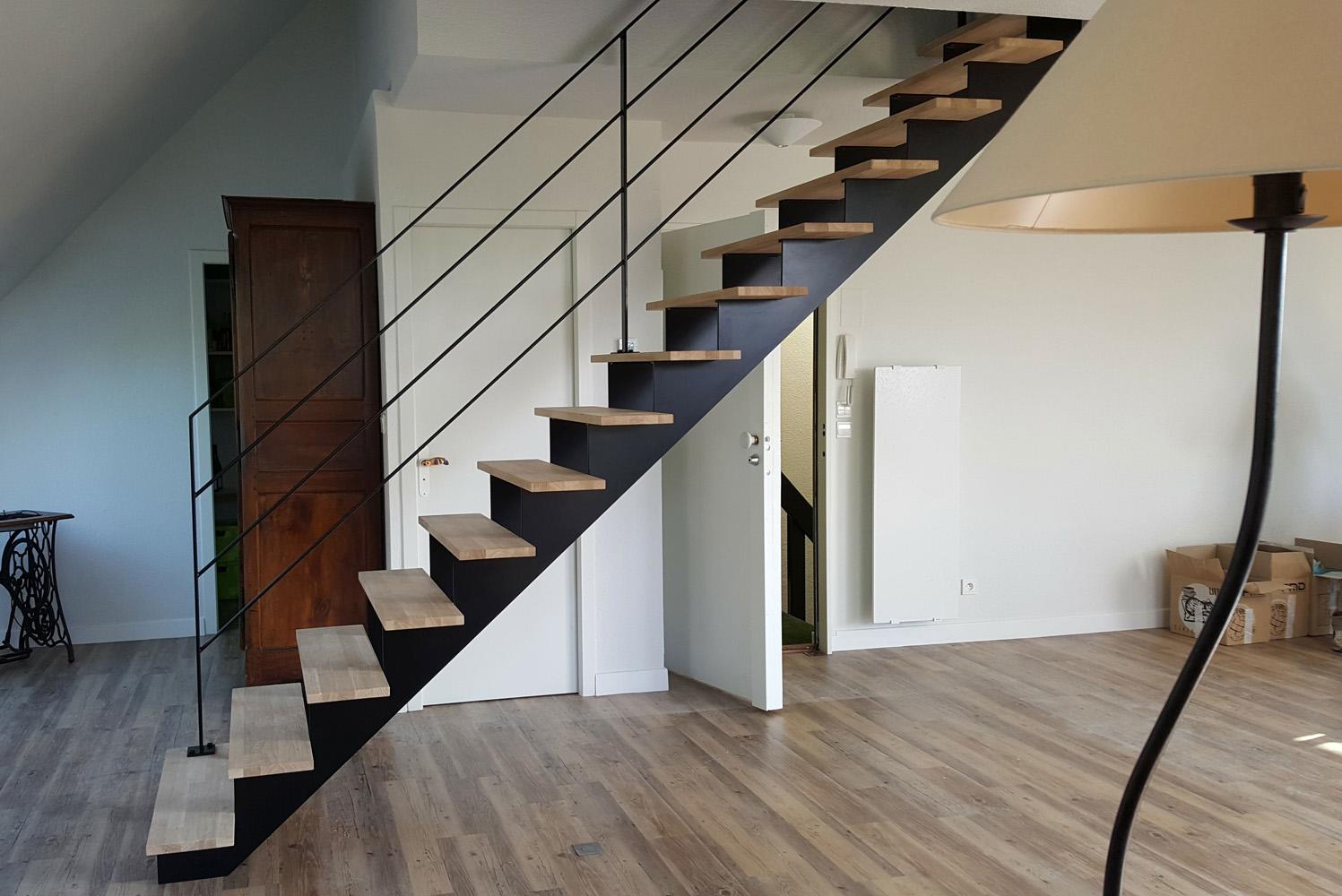 escalier sans limon interesting escalier sans limon with escalier sans limon lescalier en. Black Bedroom Furniture Sets. Home Design Ideas